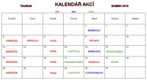 Kalendář akcí - Duben 2016