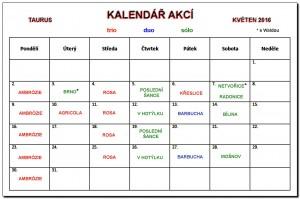kalendář květen 2016